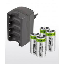 de.Power nabíječka baterií CR123